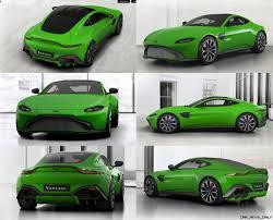 2018 Aston Martin VANTAGE  Official Configurator GIFs + Q Palette Neons