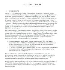 Sow Template Statement Of Work Sample How To Write A
