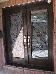 front doors with glass and iron wrought iron glass front