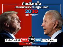 ผลเลือกตั้งสหรัฐล่าสุด 'ไบเดน 306 : ทรัมป์ 217' - The Bangkok Insight