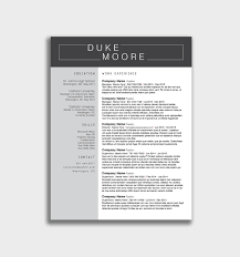 Free Word Resume Templates Download Unique Download Free Resume ...