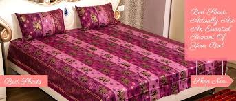 print cotton bed sheets