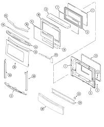 jenn air jenn air cooking parts model jes9860aas sears partsdirect jenn air jenn air cooking door access panel stl parts