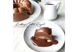 1 bks gelatin biasa (7gram) 1 bks biskut regal saiz kecil 110 gram gula pasir 650ml air putih bahan. Resep Puding Coklat Regal