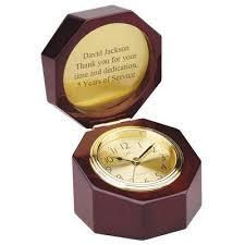 Thank You Gift For Boss Rosewood Clock In The Box