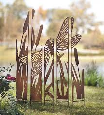 dragonfly garden stakes. Metal Panel Dragonfly Garden Stake Stakes