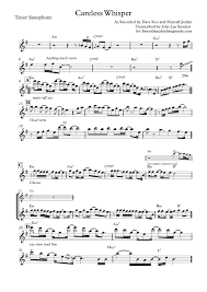 careless whisper tenor sax sheet music sax backing tracks alphabetical by artist d