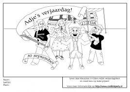 Kleurplaat Actie Coolkids Party