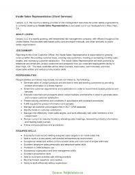 Interesting Inside Sales Rep Resume Inside Sales Representative