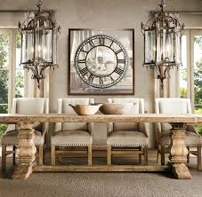 view in gallery salvaged wood trestle table from restoration hardware