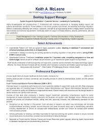 Desktop Support Sample Resume Huanyii Com