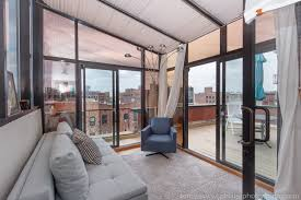 Interior Photographer Office On Terrace Apartment Williamsburg Brooklyn New  York