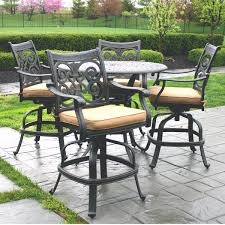 innovative counter height outdoor dining sets patio furniture