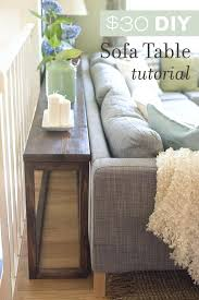 diy sofa table plans diy console table cusm pallet plans sofa