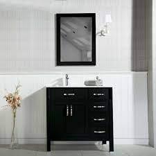 Woodbridge 36 Inch Black Bathroom Cabinet