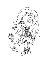 Monster High Free Printable Colouring Pages - FunyColoring