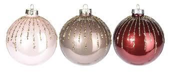 2 Weihnachtskugeln Tannenbaumkugeln Weihnachtsbaumkugel Glitzer Taupe Rot Rosa