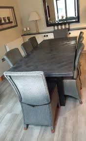 concrete dining table. Charcoal Polished Concrete Dining Table; Table W