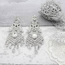 chandelier earrings lovely diamante silver chandelier earrings by isabella charm