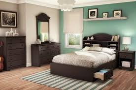 South Shore Summer Breeze Full Bookcase Storage Bed Set in Chocolate Finish  - transitional - Beds - Cymax