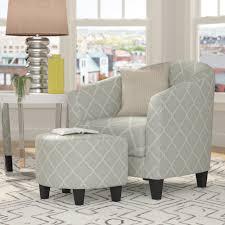 Living Room Chair And Ottoman Set Brayden Studio 2 Piece Upholstered Barrel Chair And Ottoman Set