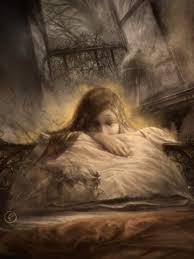 Resultado de imagen para niña bañada de tristeza