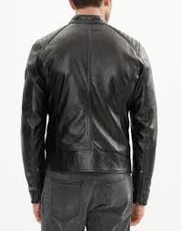 mens biker belstaff v racer blouson jacket black
