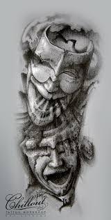 Art тату эскиз маски Chillout Tattoo Workshop