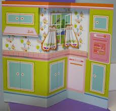 Barbie Kitchen Furniture Vintage Barbie Learns To Cook 1634 Kitchen Cardboard Backdrop