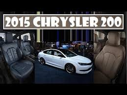 2015 chrysler 200 limited interior. 2015 chrysler 200 adding two new interior choices with blue and mocha leather youtube limited