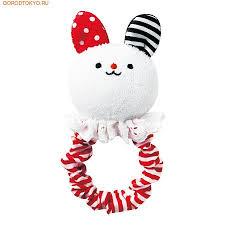 <b>Combi Мягкая погремушка</b> с мордашкой зайчика «FuriFuri Rabbit ...