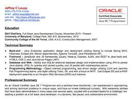 Brilliant Ideas Of Core Java Resume Objective Java Programmer Resume