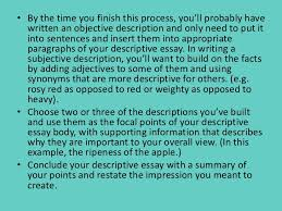 english descriptive writing 20 purpose of descriptive essaysbull