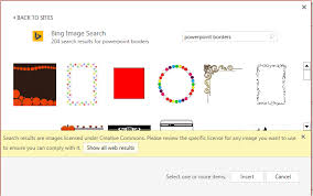 results of a search for powerpoint borders in bing