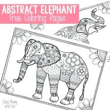 Printable Elephant Coloring Pages Free Elephant Coloring Pages