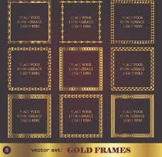 gold frame border vector. Fine Gold Gold Frame Vector Set Throughout Gold Frame Border Vector