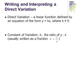 direct variation form section 3 direct variation ppt video online download