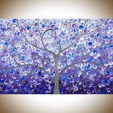 lavender evening by qiqigallery 36 x 24 original abstract painting colorful painting purple blue black white wall art whimsical art canvas arttree