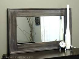 rustic wood framed mirrors. Rustic Wood Mirror Streaky Weathered Framed Farmhouse Barn Mantle With Regard To Mirrors R