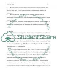 recycling paper lab report example topics and well written recycling paper essay example