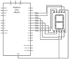 how to display any character on a segment led display how to drive a 7 segment led display an arduino