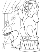 Small Picture Circus Animal Coloring Pages Free Printable Circus animal
