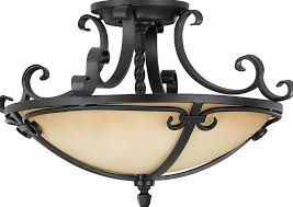 black wrought iron ceiling lights