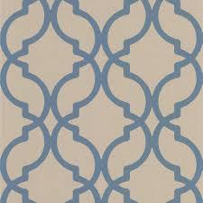 harira blue moroccan trellis wallpaper