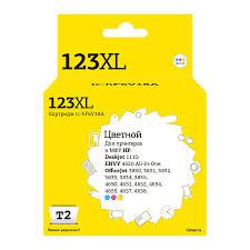 Купить <b>Картридж T2 IC-HF6V18A</b>, многоцветный / голубой ...
