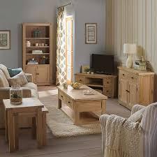 Living Room Furniture Ranges Eton Solid Oak Living Room Furniture Glazed Display Cabinet Oak
