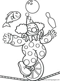 clown circus themed coloring page printable clown circus themed coloring clown circus themed