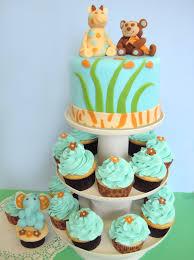 Jungle Animal Baby Shower Cakes  Party XYZBaby Shower Safari Cakes