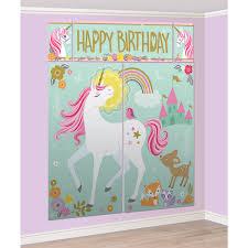 magical unicorn party photo wall scene setter backdrop decoration photo props