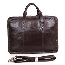 <b>JMD Genuine</b> Cow <b>Leather</b> Men's Handbag Coffee Laptop Bag 7345C